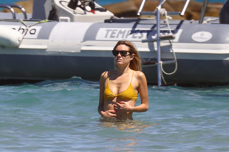Camille Rowe was seen in Corsica where she joined her family