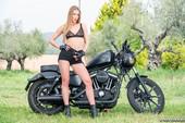 Alexis Crystal fucks on motorbike 08-25