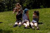 Barbie Qu, Skye Blue and Nina Presley - Central Park Salad 09-01