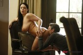 Angela White screwed by an older man on the couch