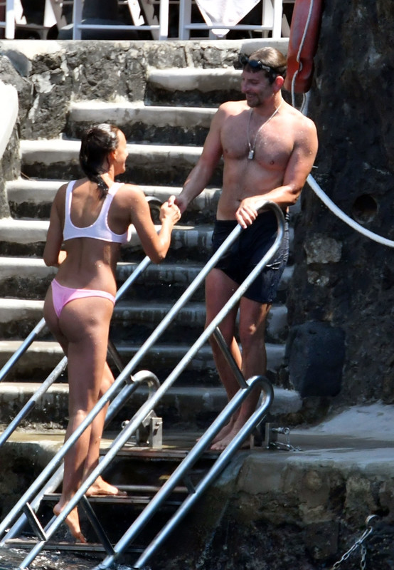 Bradley Cooper and Irina Shayk while on holiday together in Positano, Italy j6r03g9v3p.jpg