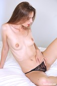 Gracie - Sexy Black Lingerie Getting Naked On The Bed 09-21