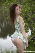 Nelya - Super Skinny Girl Getting Naked Outdoors 10-13 a6rq9wvtlr.jpg