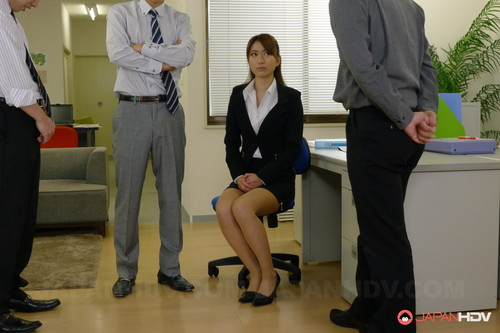 JapanHDV - Office Lady Melia Rika Is Fucked By Her Superiors (1080p)